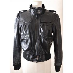 ❤️Miley Cyrus & MaxAzria Vegan leather bomber